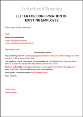 Letter-For-Confirmation-Of-Existing-Employee